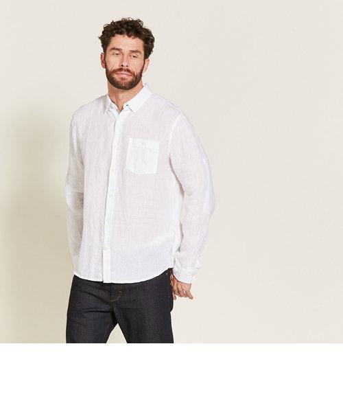リネンロング シャツ