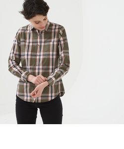 吸水速乾 長袖チェックシャツ