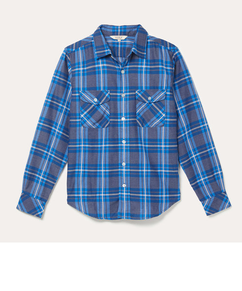HW フランネルチェックシャツ