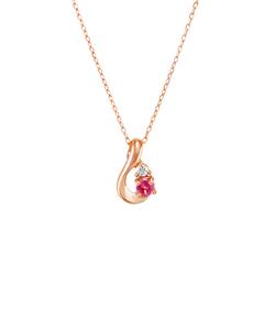 【7月誕生石】K10ピンクゴールドネックレス