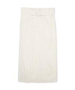 綿麻シャンブレーストライプスカート