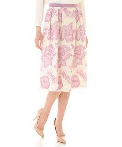 [WEB限定商品]フローラルカットジャガードスカート