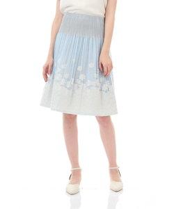 ◆フラワージャガード×無地カラースカート