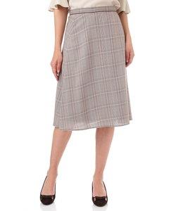 ◆グレンチェックワンタックフレアースカート