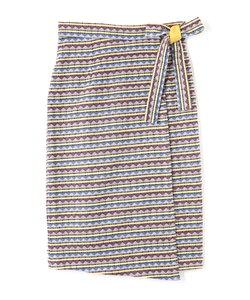 エスニックジャガードラップスカート