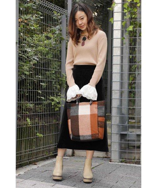 ミモレ丈トラペーズスカート