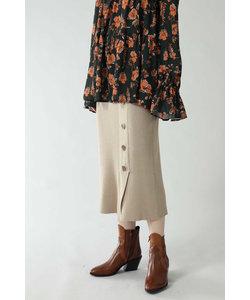 スリットリブニットスカート