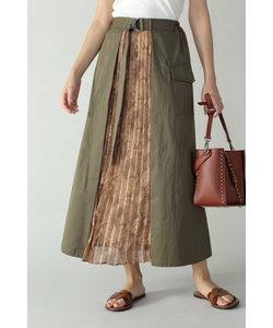 パイソン柄切り替えプリーツスカート