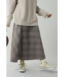 チェックロングスカート