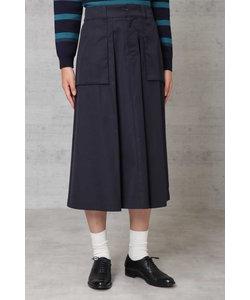 高密度ツイルマチポケット付スカート◆