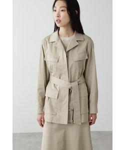 ◆≪arrive 5e≫綿麻スラブサテンジャケット