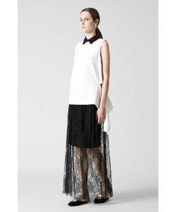 《BLACK LABEL》アリュールレースマキシスカート