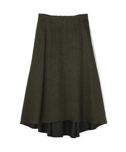 シャンブレー麻スカート