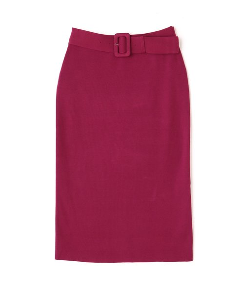 ベルト付きセットアップタイトスカート