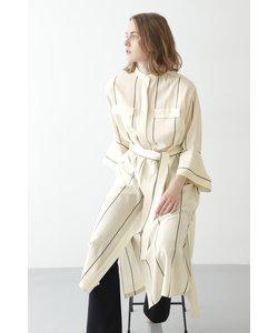 ◆ストライプロングシャツ羽織り
