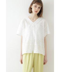 ◆幾何アイレット刺繍ブラウス