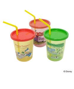 Disney (ディズニー) Happy Campers /ストロー付タンブラー3PセットA