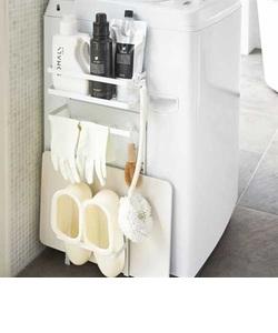 tower (タワー)  洗濯機横マグネット収納ラック WH
