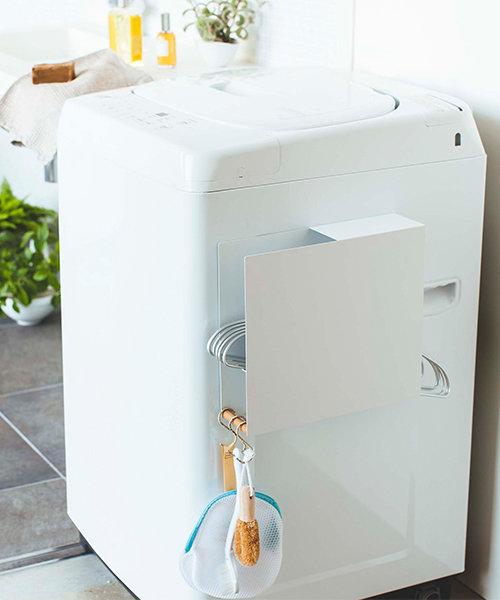 tosca (トスカ) 洗濯機横マグネットハンガーホルダー ホワイト