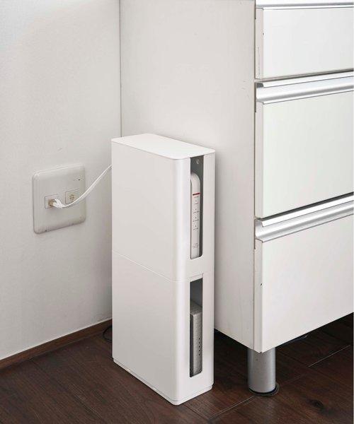 smart 重ねられるスリム蓋付きルーター収納ケース WH