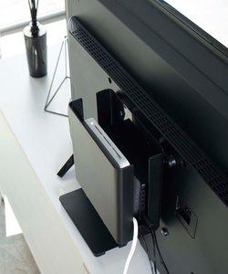 smart 重ねられるスリム蓋付きルーター収納ケース BK