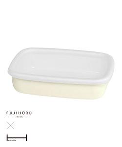 """""""富士琺瑯""""×Homeland 琺瑯容器L クリーム"""