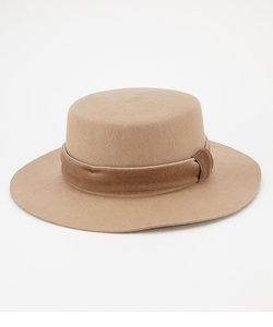 ベロアリボンフェルトカンカン帽