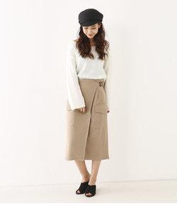 サイドポケットミディタイトスカート