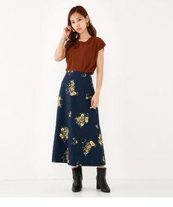 ブーケフラワーロングスカート