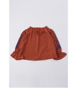 《WEB限定サマーセール》【KIDS】袖刺繍ブラウス