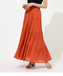 COTTON BOIL TIERED SKIRT