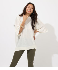 SQUARE LOOSE KNIT TOPS