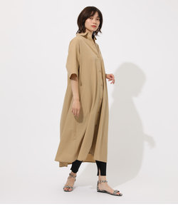 FLARE LONG SHIRTS ONE PIECE