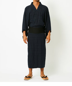 【MEN'S】LINEN COTTON YUKATA
