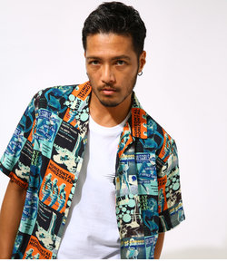 【MEN'S】FUN GRAPHIC PATTERNED SHIRT