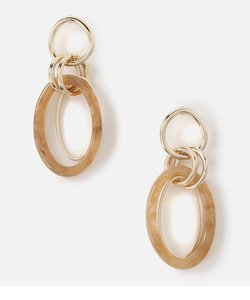 MARBLE×METAL RING EARRINGS