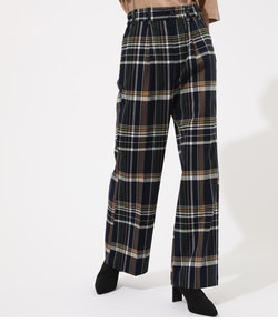 CHECK SEMI FLARE PANTS