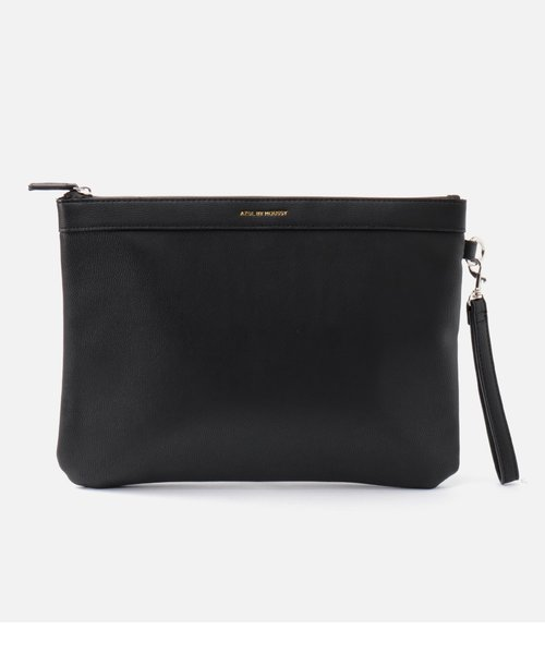 【MEN'S】FAKE LEATHER CLUTCH BAG