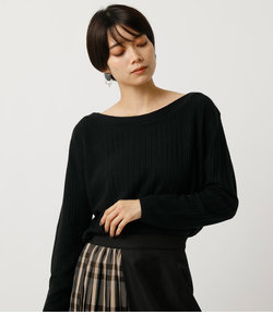 NUDIE WIDE RIB B/N KNIT TOPS