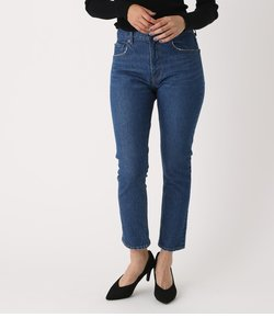 HIGH WAIST DENIM SLIM TAPERED