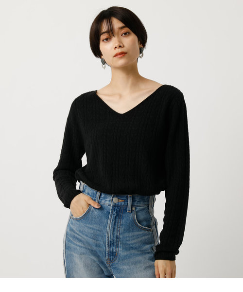 NUDIE V/N CABLE KNIT TOPS