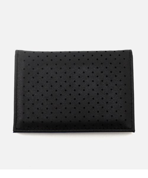 【MEN'S】PUNCHING FAUX LEATHER PASSCASE