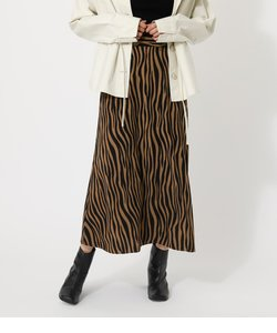 ZEBRA NARROW MAXI SKIRT