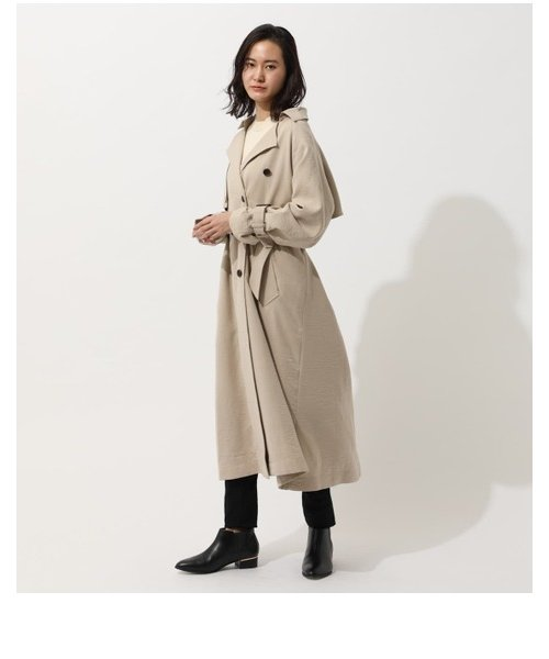 ONE FLAP TRENCH COAT