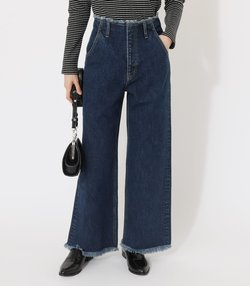 FRINGE DENIM WIDE