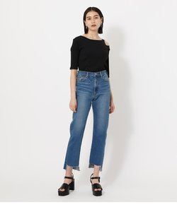 HEM CRASH DENIM STRAIGHT