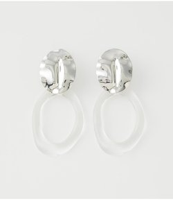CLEAR ROUND EARRINGS