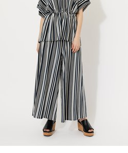 GLOSSY COOL BELT WIDE PANTS