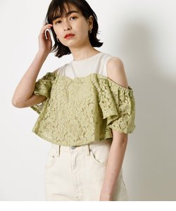 LACE LAYERED RUFFLE TOPS