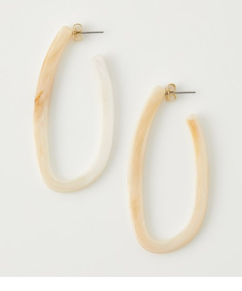 MARBLE HOOP EARRINGS